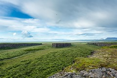 Asbyrgi Iceland (Einar Schioth) Tags: summer sky cliff cloud sunshine clouds canon landscape photo iceland day outdoor ngc picture canyon ísland nationalgeographic asbyrgi eyjan ásbyrgi vatnajokulsthjodgardur einarschioth