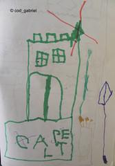 "My son's drawing of a ""capelt"" - meaning castle (""castel"" in Romanian) (cod_gabriel) Tags: castle drawing son dessin dibujo filho fiu tegning desenho disegno castel hijo fils zeichnung tekening sohn figlio  teckning rysunek rajz piirustus   desen menggambar"