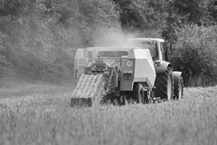 Erntezeit III (jda_ue) Tags: landwirtschaft bauer ernte trecker uelzen weizen strohballen weizenfeld weizenernte erntezeit ballenpresse