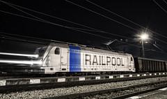 RAILPOOOOL (BackOnTrack Studios) Tags: electric night last train blurry bulgaria locomotive lm trials freight mile tests traxx ac3 kazichane railpool
