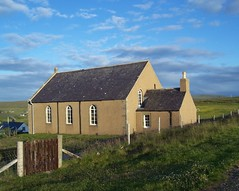Strathy Presbyterian Church, Strathy, Sutherland, July  2015 (allanmaciver) Tags: windows chimney classic church evening gate style sutherland vestry associated strathy presbyetrian allanmaciver