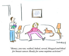 Breast Cancer and Naptime Activism (DES Daughter) Tags: cartoon breastcancer
