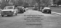 Learning Is Hard Sometimes (☁☂It's Raining, It's Pouring☂☁) Tags: road park old trees cars truck group police parked learn poetography wk146
