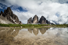 mountain mirror cloud (lars feldhaus) Tags: italy mountains nature clouds landscape dolomiten