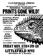 Prints Gone Wild 2015 // Brooklyn NYC (Tugboat Printshop) Tags: wild art print gone printmaking prints edition woodcut 2015 printweek printsgonewild tugboatprintshop nycprintweek affordableprintfair