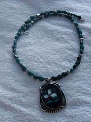 IndianSilverTorquoiseNecklace (merhawk) Tags: silver necklace beading torquoise indianpendant indiansilverfocal indianfocal