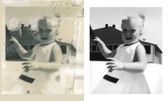 moorci_midlandbeach_20130413_042_cr_RIP_TKv1_st_splice_nodate (CARE for Sandy) Tags: charity blackandwhite house beach girl smiling pencil photoshop vintage outside outdoors happy 60s toddler child dress transformation hurricane may h blonde restoration ponytail 1960s date beforeandafter volunteer damaged photorestoration 1962 beachhouse sundress beforeafter c1 breezypoint rockaways c1p c1b hurricanesandy superstormsandy