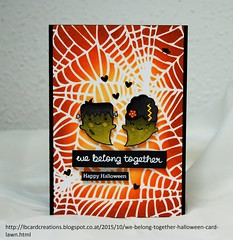 We belong together - Halloween card | Lawn Fawn (Lisa/B) Tags: halloween booyah lawnfawn