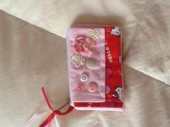Hello Kitty (ceciliamezzomo) Tags: pink red hk bag handmade hellokitty rosa vermelho patchwork necessaire