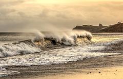 White horses (Bev Cappleman) Tags: beach sunrise surf waves wave breakingwave sandsend whitehorses sandsendbeach