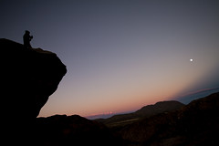 Theater of the Absurd-Sunset at Hueco Tanks (trueaberasturi) Tags: sunset climbing hueco