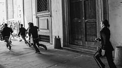 Hell Hath No Fury Like A Woman Scorned (Culture Shlock) Tags: street travel people italy florence women police running run chase pursuit criminals policepursuit policechase runningfromthelaw