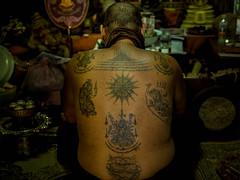 Monk's Tattoo.jpg (TattooDom.com) Tags: tattoo thailand monk buddhistmonk 2015 buddhatattoo handtattoo sticktattoo olympusomdmarkii