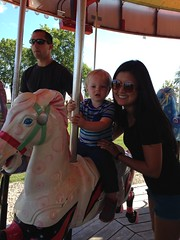 """Paul Rides the Carousel with Aunt Emily • <a style=""""font-size:0.8em;"""" href=""""http://www.flickr.com/photos/109120354@N07/23224783125/"""" target=""""_blank"""">View on Flickr</a>"""