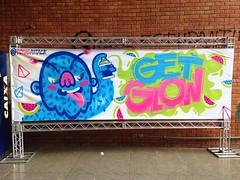 Festa Get Glow (Yong Attack) Tags: party streetart art arquitetura graffiti artwork artist buh urbanart spraypaint decor festa decorao interiordesign brasilia yong unb designdeinteriores yongattack getglow