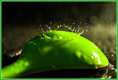 U comme Ustensile (www.nathalie-chatelain-images.ch) Tags: green water nikon eau spoon vert cuillre ustensilecuisine