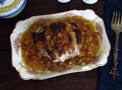 Pork loin in the oven with apple - Food From Portugal (Food From Portugal) Tags: food apple portugal pork recipes loin receitas ma porco lombo