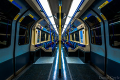 Empty Train (Daniel Coyle) Tags: emptytrain piccadilly piccadillyline train tube underground undergroundtrain symmetry empty danielcoyle d7100 nikon nikond7100 london longexposure londonnight lasttrain tubetrain