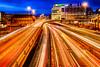 M 8 Glasgow (ianmiddleton1) Tags: glasgow night longexposure hdr traffic lighttrails