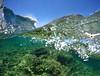 Unfolding (xav_neg) Tags: wave underwater sea seascape malta reef gopro gopole dome