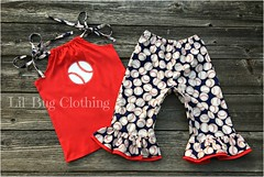 baseball (Lil' Bug Clothing) Tags: baseball top pant outfit capris
