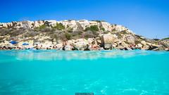 Half immersed (Nicola Pezzoli) Tags: favignana sicilia sicily island egadi summer sea water colors nature canon tourism cala azzurra underwater blue light