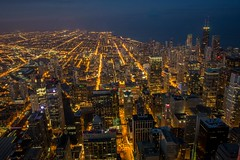 chicago (selo0901) Tags: skydeck chicago night lights hancocktower skyline lakemichigan downtown illinois usa skyscraper highrise windycity buildings cityscape longexposure cityview overlook observationdeck