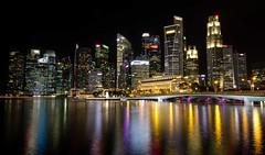 Singapore skyline (Jhaví) Tags: night noche ciudad city nocturna asia reflejos exposición larga skyline singapore singapur arquitectura