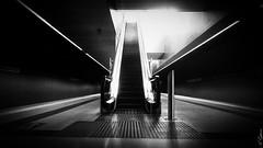 Stairway to.... (Alberto E.B.) Tags: telefono movil cell phone celular blanco negro bw bn metro escaleras fotografia