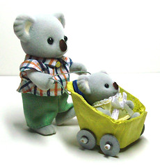 egg carton stroller (sophie.lafontaine) Tags: calicocritters dollhouse miniatures stroller eggcarton