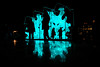 Silhouettes @ Amsterdam Light Festival (PaulHoo) Tags: amsterdam light festival neon illuminated night evening dark contrast 2016 holland netherlands silhouette people reflection abstract color fujifilm x70