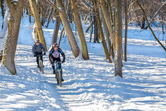 Winter Cycling (Elen_L) Tags: 2017 europe kharkov park ukraine day frost ice landscape morning naturewakesup snow walk winter зима мороз парк природа прогулка bike cyclist sport travel activelifestyle