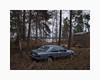 Stennäset, Falun 2017 (Karl Gunnarsson) Tags: em5 panasonic20mmf17 varpuddevägen stennäset falun dalarna sverige sweden derelict car mercedes benz w124 winterlight twilight trees forest suburb