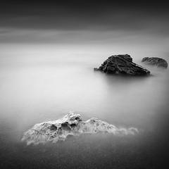 Silence | Study II (Marcin Flis Photography) Tags: water sky sunset crete greece longexposure bnw black white blackandwhite mono monovision monochrome canon 5d beach nd nd110 bw110 filters stone sand sun