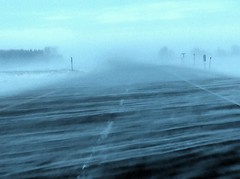 A blustery drive (canadianlookin) Tags: winter snow drifting highway transcanada december 2016 blustery storm