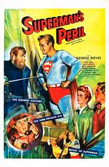 Superman's Peril (1954) (Tom Simpson) Tags: vintage film movie poster posterart movieposter illustration supermansperil 1954 superman 1950s georgereeves comics comicbook