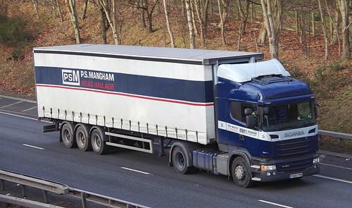 SCANIA R450 - P.S. MANGHAM Rotherham Yorks.