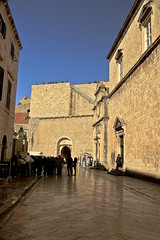 A6225DUBb (preacher43) Tags: dubrovnik croatia old city franciscan church monastery spire pharmacy library building architecture pile gates outdoor