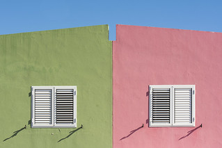 Pink and green houses (on Explore)