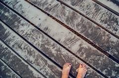 Over the boardwalk (Melissa Maples) Tags: summer woman selfportrait feet me turkey pier sand nikon asia trkiye melissa barefoot pedicure nikkor maples vr afs  18200mm  f3556g atapark  beyehir 18200mmf3556g d5100