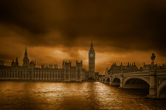 London (radonracer) Tags: uk sun london clouds big ben thamse parlament themse