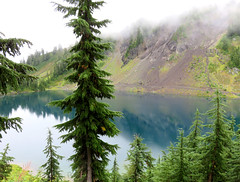 HighPassTwinLakes (Aubrey Sun) Tags: mountain water washington high north lakes pass twin hike cascades wa winchester