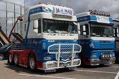 DAF XF MJ May & Son W80MAY MJ04MAY (NTG's pictures) Tags: show charity truck hospital manchester for northwest stadium mj great may royal son childrens fundraising daf the xf etihad w80may mj04may