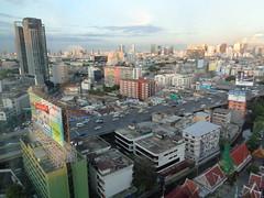 Uitzicht vanuit hotelkamer bangkok