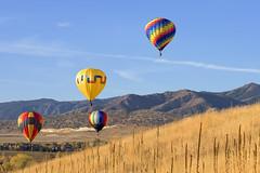 Golden Balloons (John Couture) Tags: travel usa balloons colorado hotairballoons goldencolorado nikond810