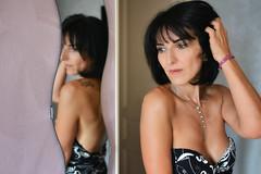 Reflet (patdebaz) Tags: reflection sexy 35mm glamour nikon breast poitrine femme sigma charm reflet tatoo sein reflexion brune charme d800 tatouage