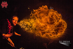 Twisted Tuesday: Paul Green (AJ Hge Photography) Tags: street light people hot art night canon fun outside fire prime orlando community florida performance event flame human talent heat winterpark perform performers firebreathing breathing skill exhale centralflorida 2015 unleash paulgreen twistedtuesday redlionpub 60d furtographer ajhegephotography ajhgephotography