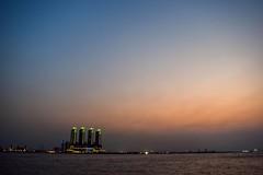 Pantai Mutiara, Jakarta. (ericko.samudera) Tags: sunset sky beach mall indonesia golden jakarta baywalk pantai mutiara
