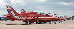 Red Arrows line (Bob the Binman) Tags: team nikon display hawk aviation military gloucestershire redarrows raf aerobatics fairford riat royalinternationalairtattoo d7100 riat2015