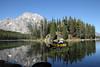 KayakingLeighLake_DEK_7319a (DennisKirkland) Tags: people nature reflections outdoors fishing couple mt action smooth kayaking evergreens recreation activity moran grandtetonnationalpark gtnp leighlake